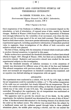 Radiative and convective stimuli of threshold intensity